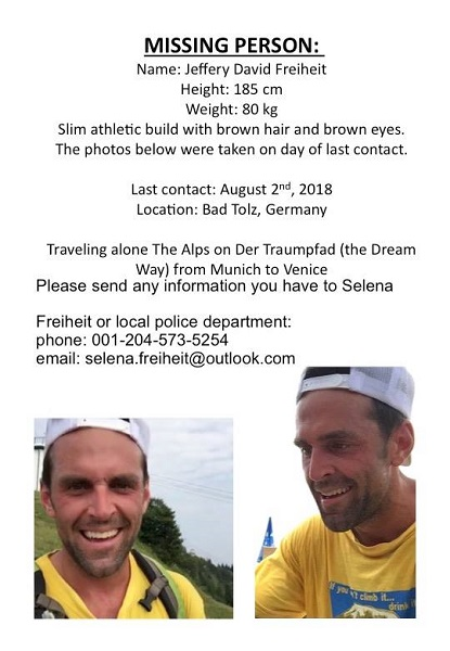UPDATE: Search for Jeff Freiheit continues - 94 7 STAR FM