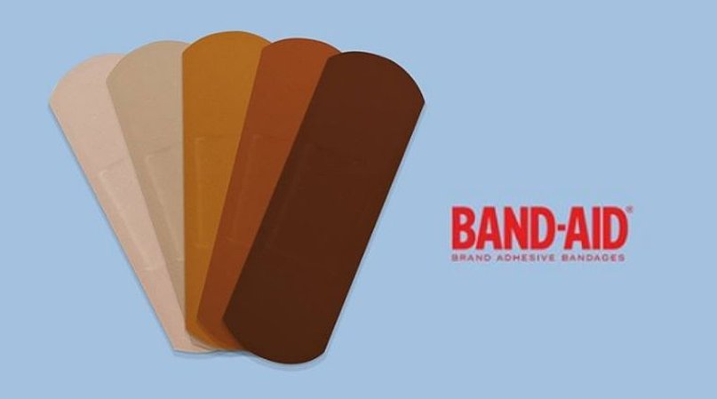 Band-Aid With Skin Tone Range