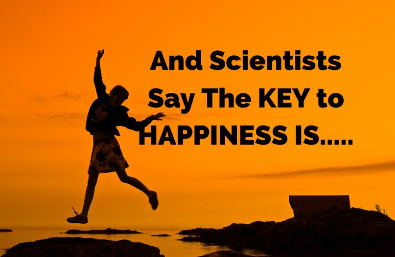 Scientists say the key to being content is....