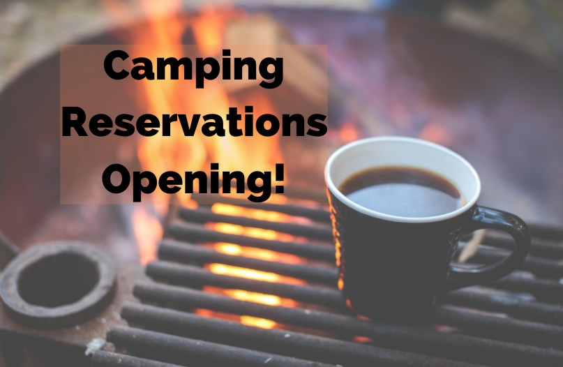Camping Reservations Opening!