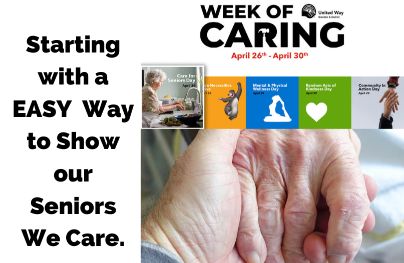 Brandon United Ways Week of Caring is April 26 - April 30.