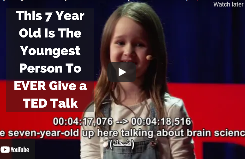 Watch this 7-year-old has given an inspiring TEDTalk on how parents should play with their childrenn